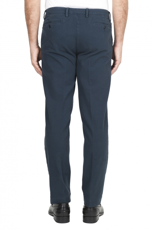 SBU 01544 Classic chino pants in blue stretch cotton 01