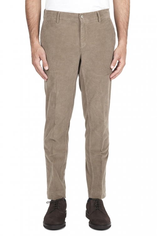 SBU 01546 Classic chino pants in beige stretch cotton 01