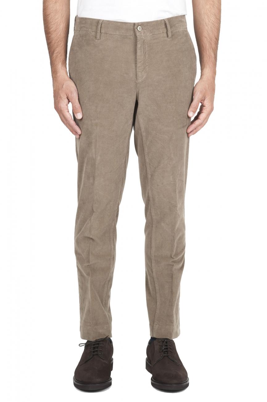 SBU 01546 Pantalones chinos clásicos en algodón elástico beige 01