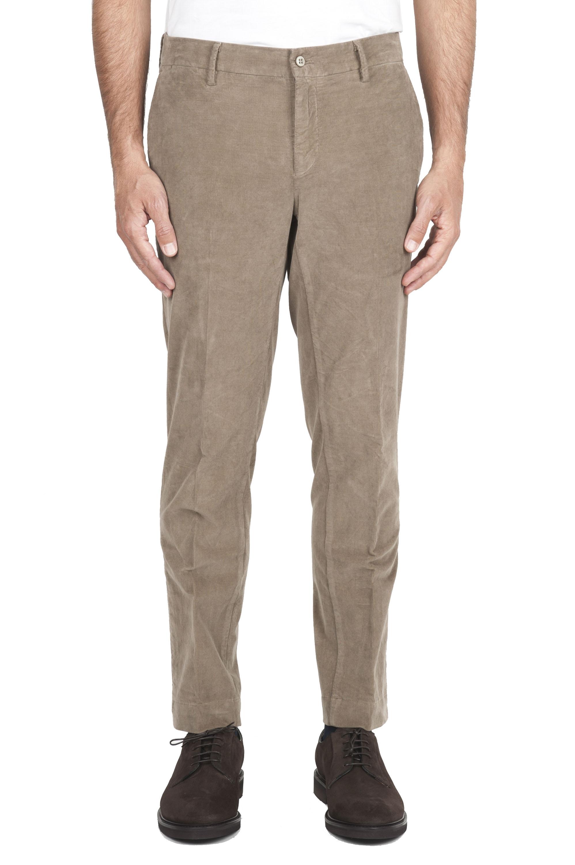 SBU 01546 Pantaloni chino classici in cotone stretch beige 01