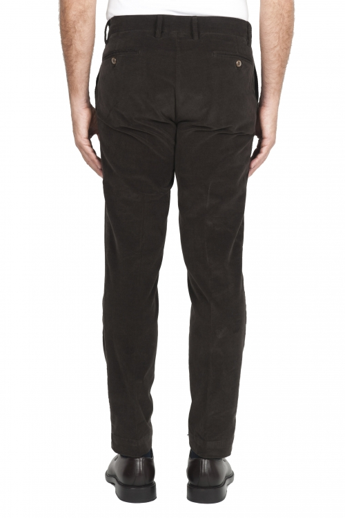 SBU 01547 Pantalon chino classique en coton stretch marron 01