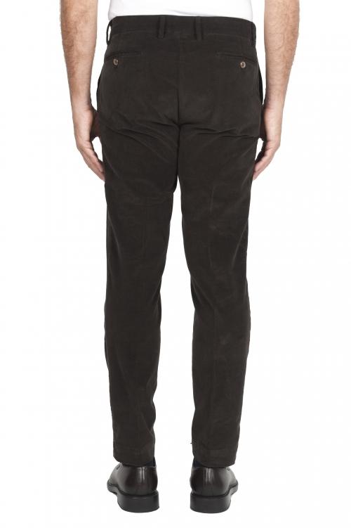 SBU 01547 Pantalones chinos clásicos en algodón elástico marrón 01