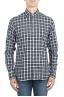 SBU 01549 Checkered pattern embossed cotton shirt 01