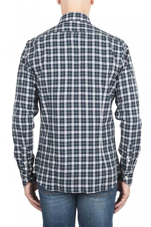 SBU 01549 チェック模様の型押しコットンシャツ 01