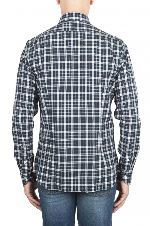 SBU 01549 Checkered pattern embossed cotton shirt 01
