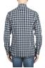 SBU 01549 Camisa patrón de cuadros en algodón en relieve 04