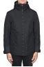 SBU 01554 Technical waterproof padded short parka jacket black 01