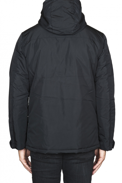 SBU 01554 Technical waterproof padded short parka jacket black 01