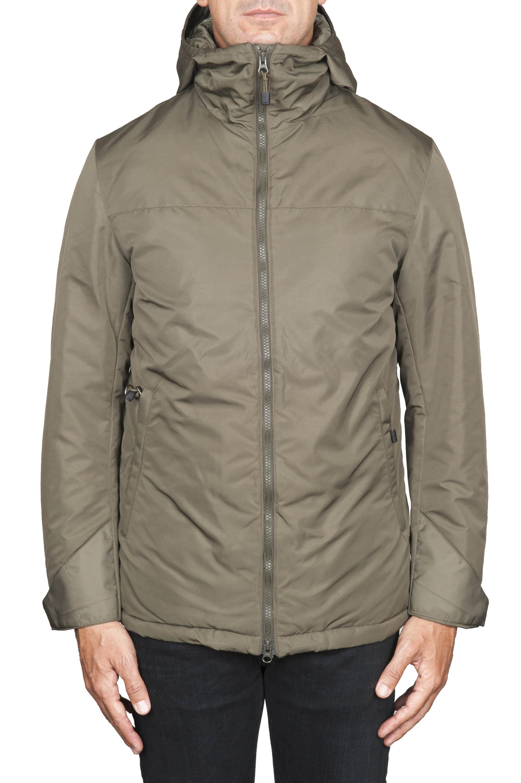 SBU 01555 Technical waterproof padded short parka jacket green 01