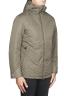 SBU 01555 Technical waterproof padded short parka jacket green 02