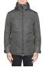 SBU 01556 Technical waterproof padded short parka jacket grey 01