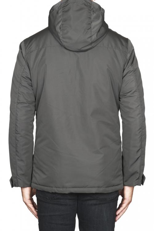 SBU 01556 Parka corta gris impermeable 01
