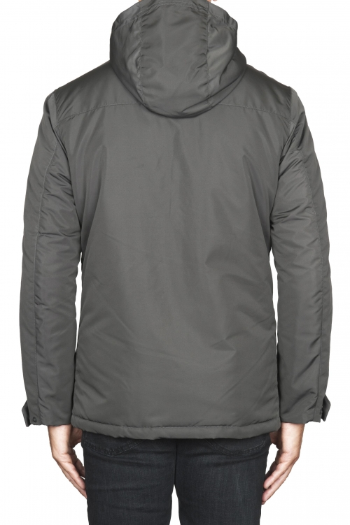 SBU 01556 Technical waterproof padded short parka jacket grey 01