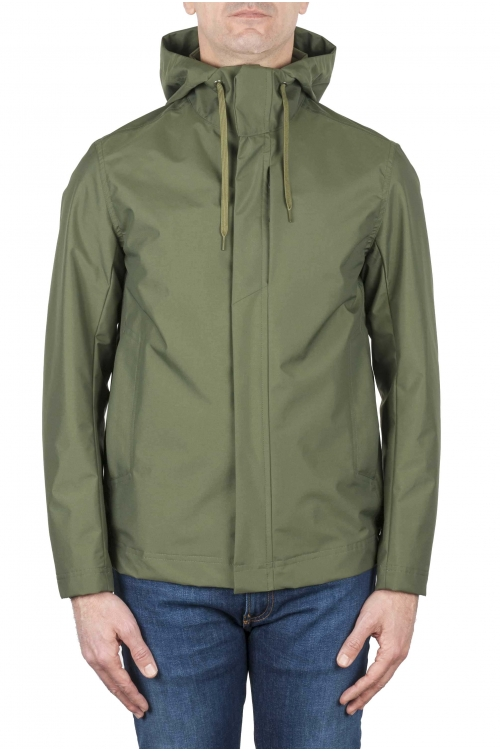 SBU 01558 Technical waterproof hooded windbreaker jacket green 01