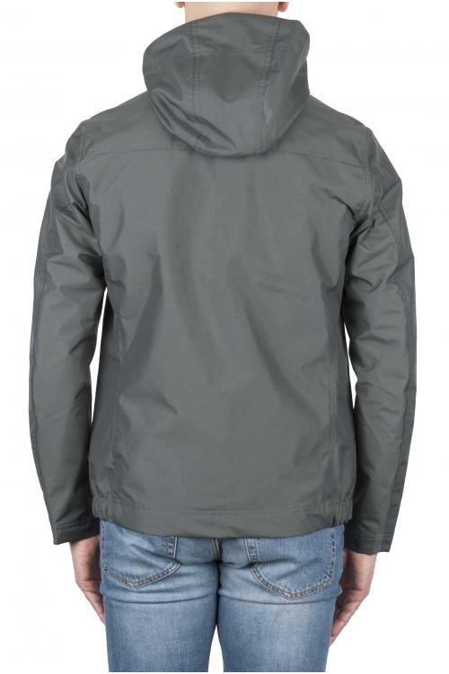 SBU 01559 Coupe-vent à capuche imperméable technique gris 01