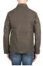 SBU 01561 Chaqueta cazadora impermeable y cortavientos en algodón engrasado verde 04