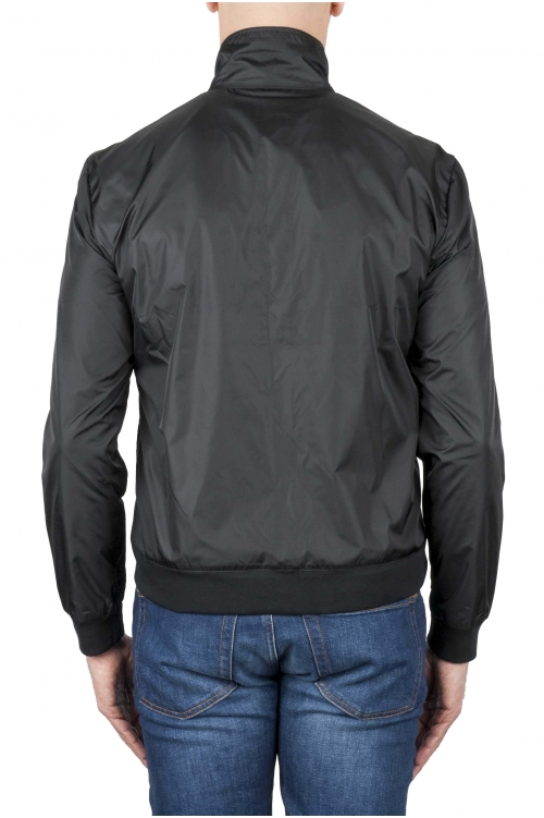 SBU 01565 Windbreaker bomber jacket in black ultra-lightweight nylon 01