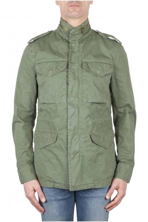 SBU 01567 ストーンは緑の綿のミリタリーフィールドジャケットを洗浄 01