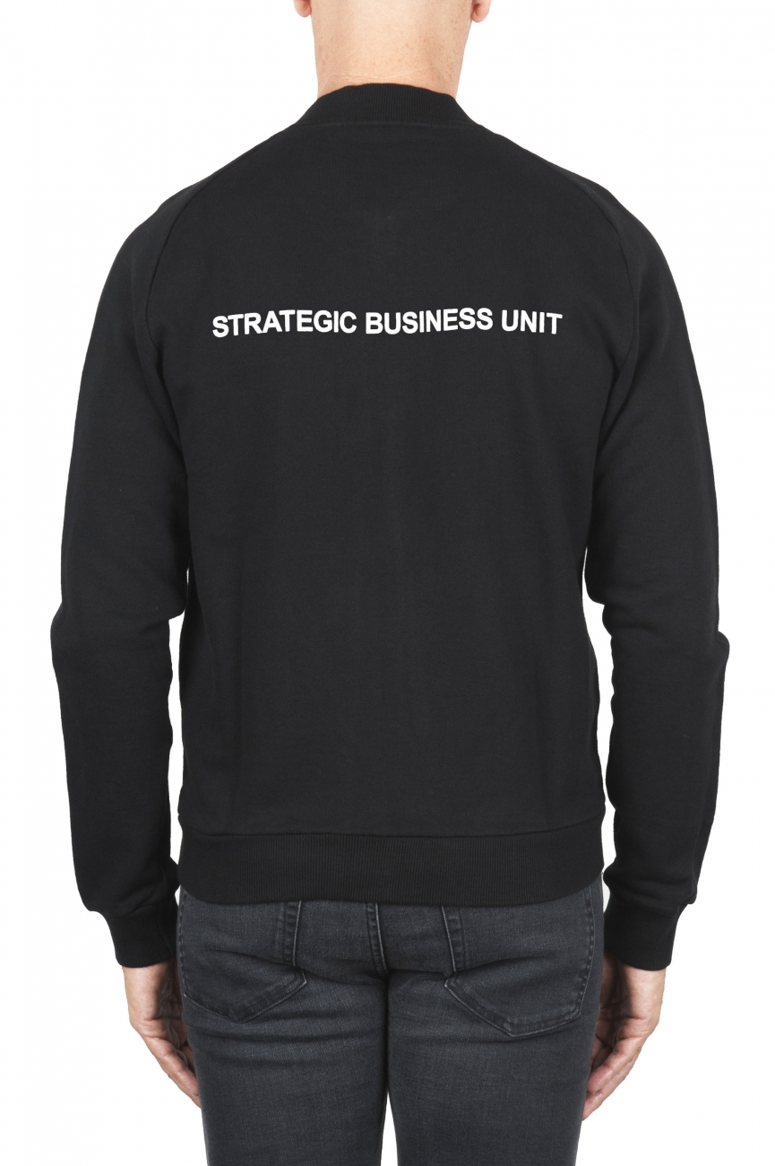 SBU 01463 Black cotton jersey bomber sweatshirt 04