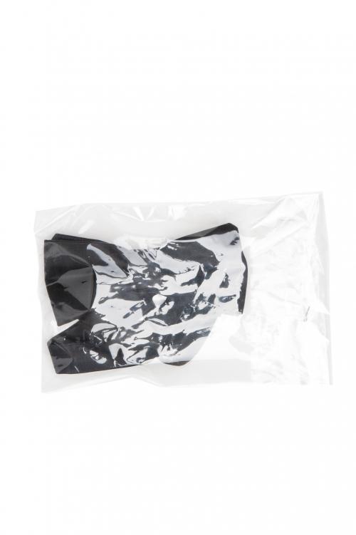 SBU 01030 Noeud papillon classique noué en satin de soie noir 01