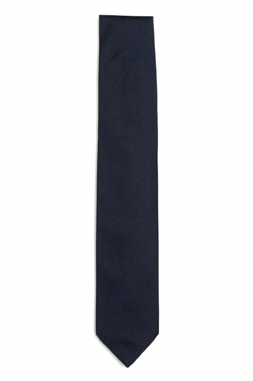 SBU 01572 Corbata clásica de punta fina en seda negra 01