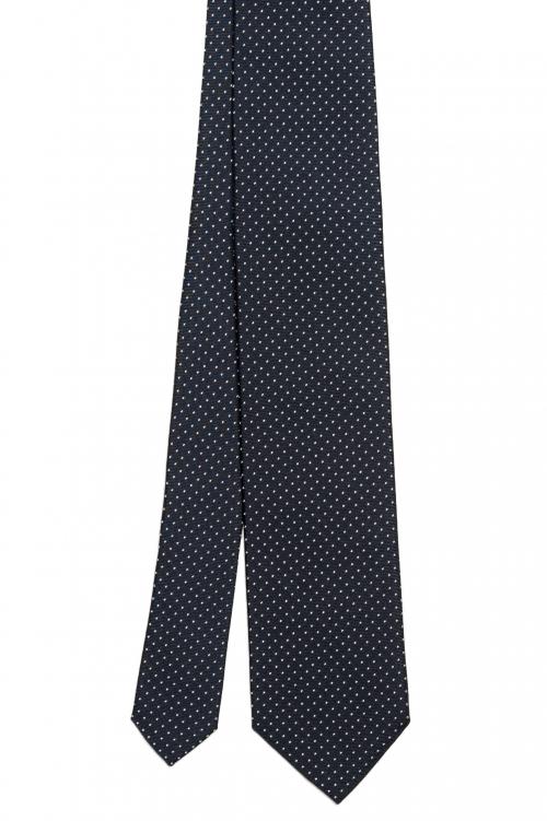 SBU 01575 Cravatta classica in seta realizzata a mano 01