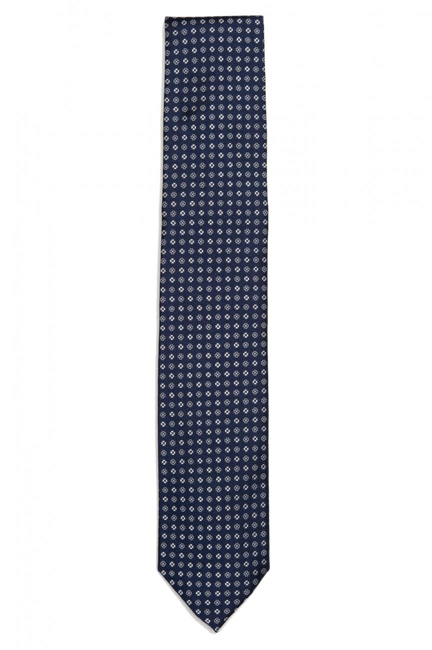 SBU 01576 Cravatta classica in seta realizzata a mano 01