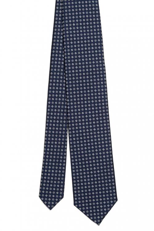 SBU 01576 Cravate en soie classique faite à la main 01