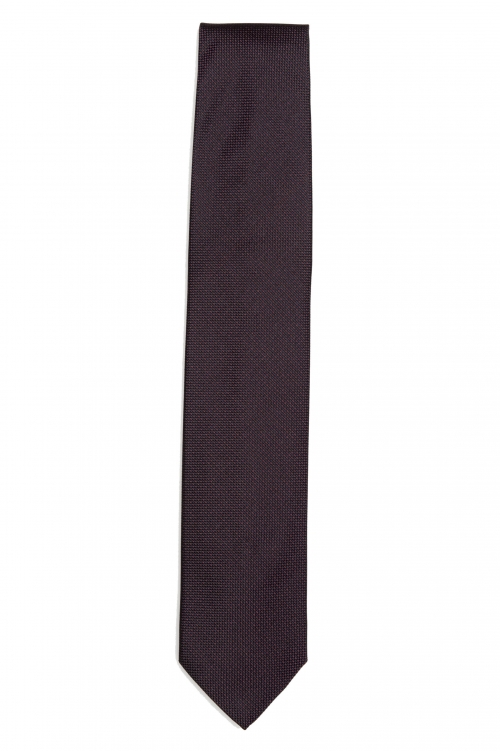 SBU 01577 Classic handmade pointed tie in silk 01