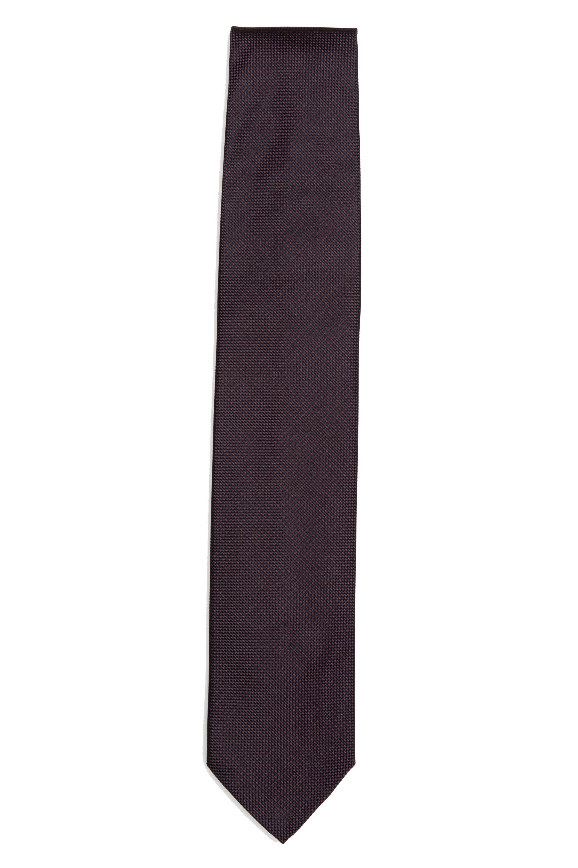 SBU 01577 Classic handmade pointed tie in silk 01
