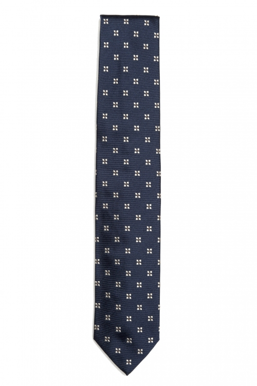SBU 01578 Classic handmade pointed tie in silk 01