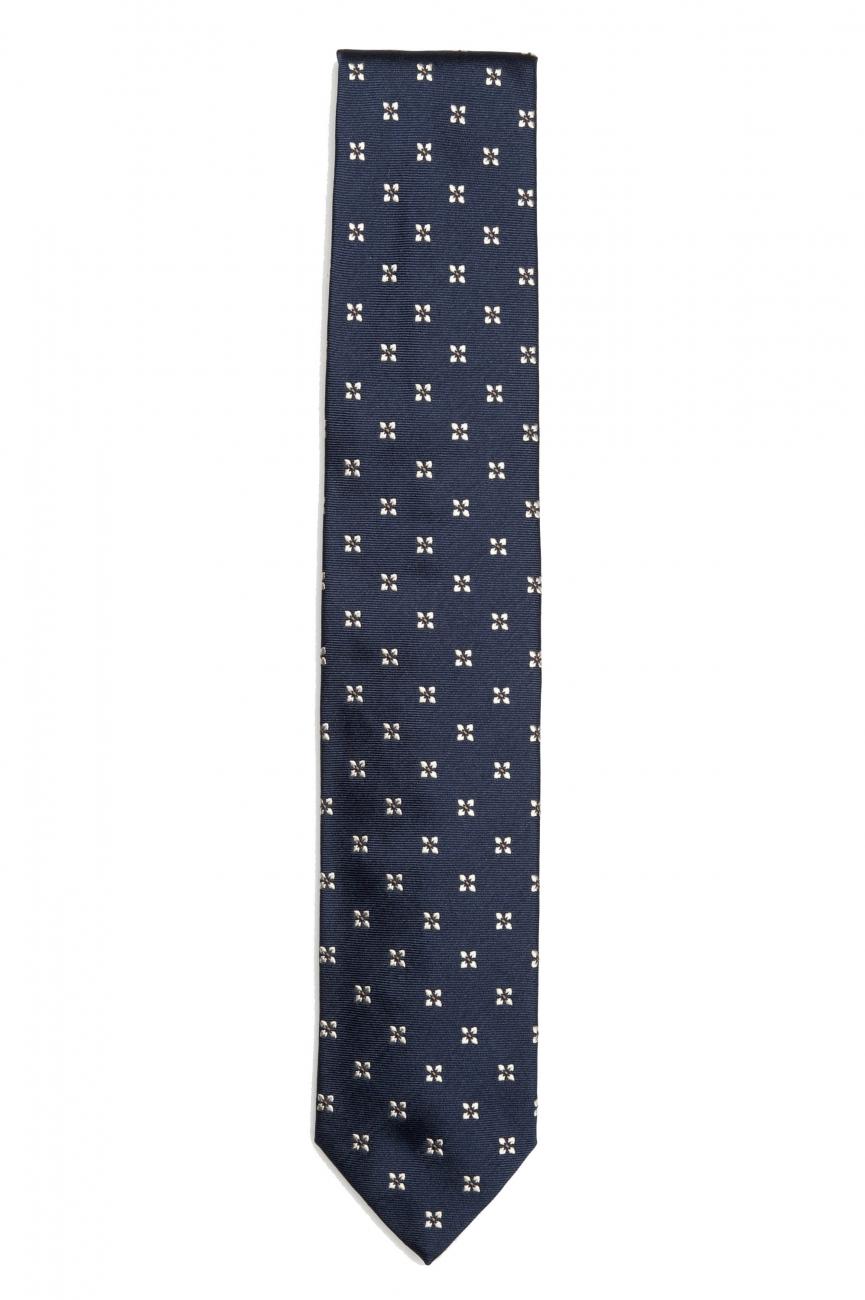 SBU 01578 Classic handmade pointed tie in silk 01