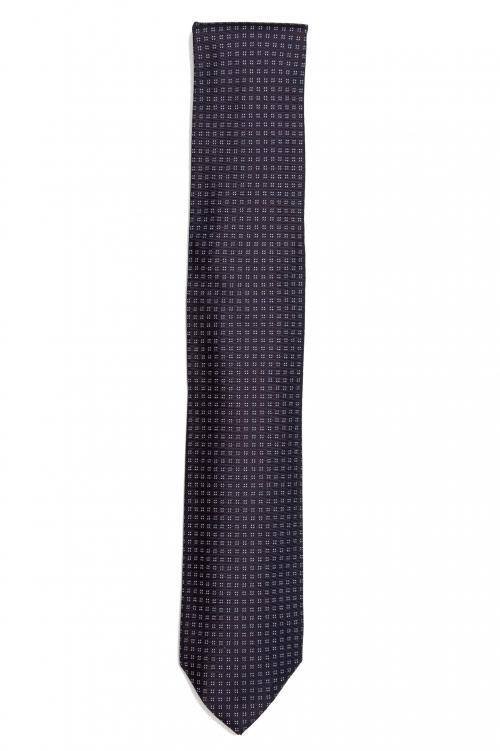 SBU 01579 Cravate en soie classique faite à la main 01