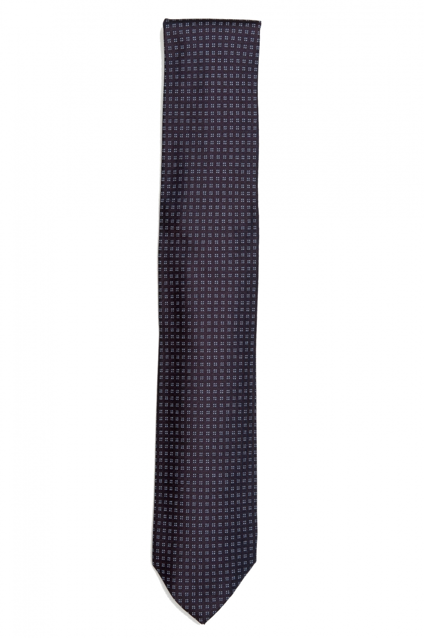 SBU 01579 Classic handmade pointed tie in silk 01