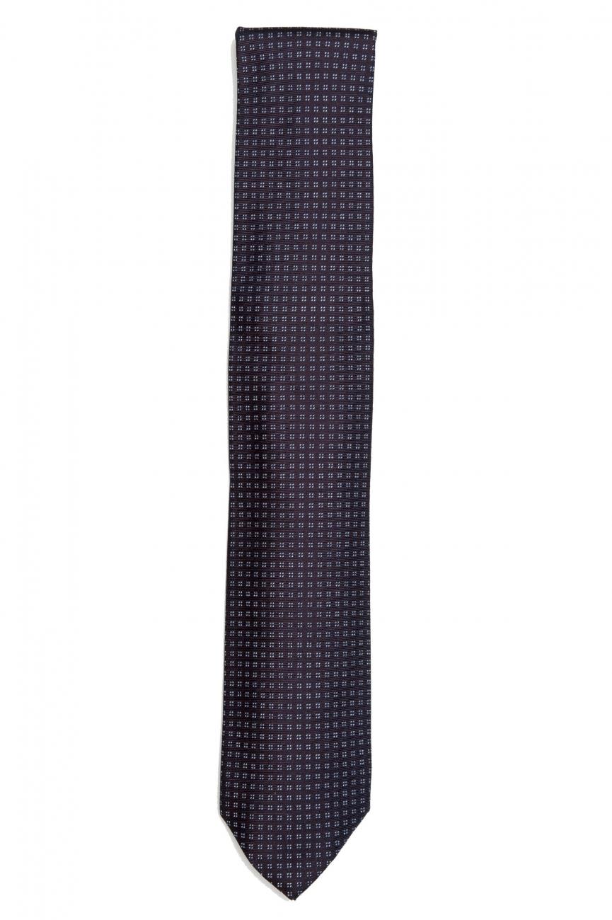 SBU 01579 Cravatta classica in seta realizzata a mano 01