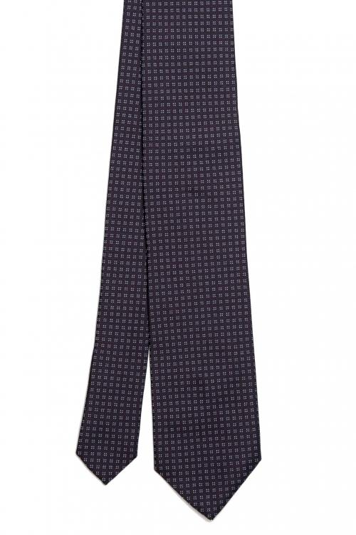SBU 01579 Corbata clásica de seda hecha a mano 01