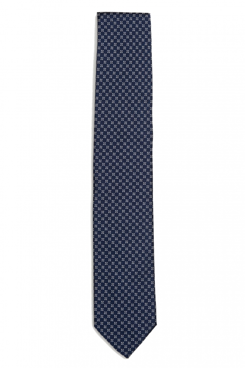SBU 01580 Classic handmade pointed tie in silk 01
