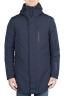 SBU 01581 Parka térmica larga impermeable y chaqueta de plumón desmontable azul 01