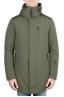 SBU 01582 Parka térmica larga impermeable y chaqueta de plumón desmontable verde 01