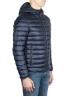 SBU 01584 Doudoune à capuche bleue 02