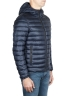 SBU 01584 Thermic insulated hooded down jacket blue 02