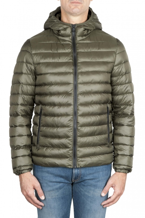 SBU 01585 Thermic insulated hooded down jacket green 01