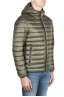 SBU 01585 Thermic insulated hooded down jacket green 02