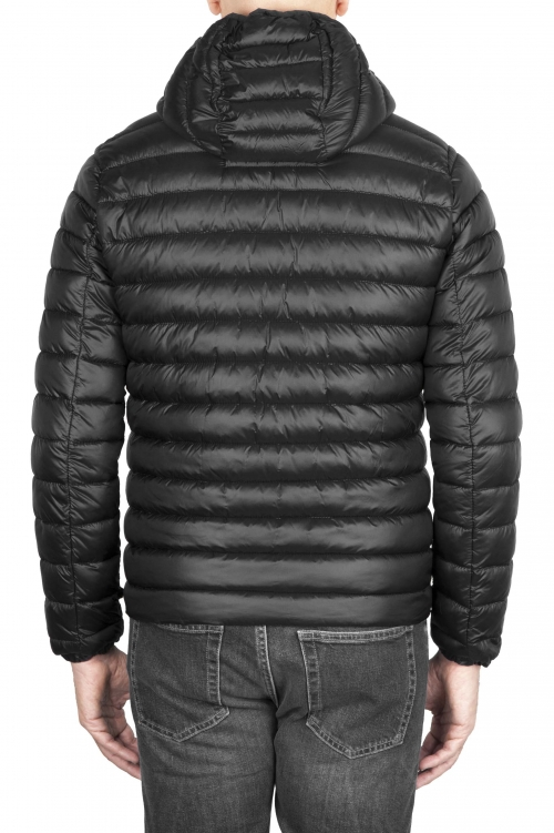 SBU 01586 Thermic insulated hooded down jacket black 01