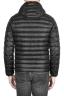 SBU 01586 Piumino con cappuccio termico antivento e traspirante nero 04