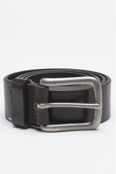 SBU - Strategic Business Unit - Cintura Classic In Pelle Di Vitello Marrone Con Fibbia Di Metallo 3.5 Cm