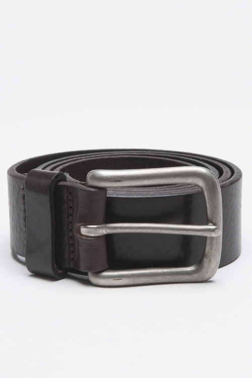 SBU - Strategic Business Unit - Classic Adjustable Buckle Closure Brown Leather 1.4 Inches Belt