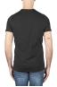 SBU 01166 Shirt classique blanche et noir col rond manches courtes en coton graphique imprimé 05