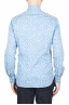 SBU 01590 Chemise en coton bleu clair à motifs géométriques 04