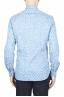 SBU 01590 Geometric printed pattern light blue cotton shirt 04